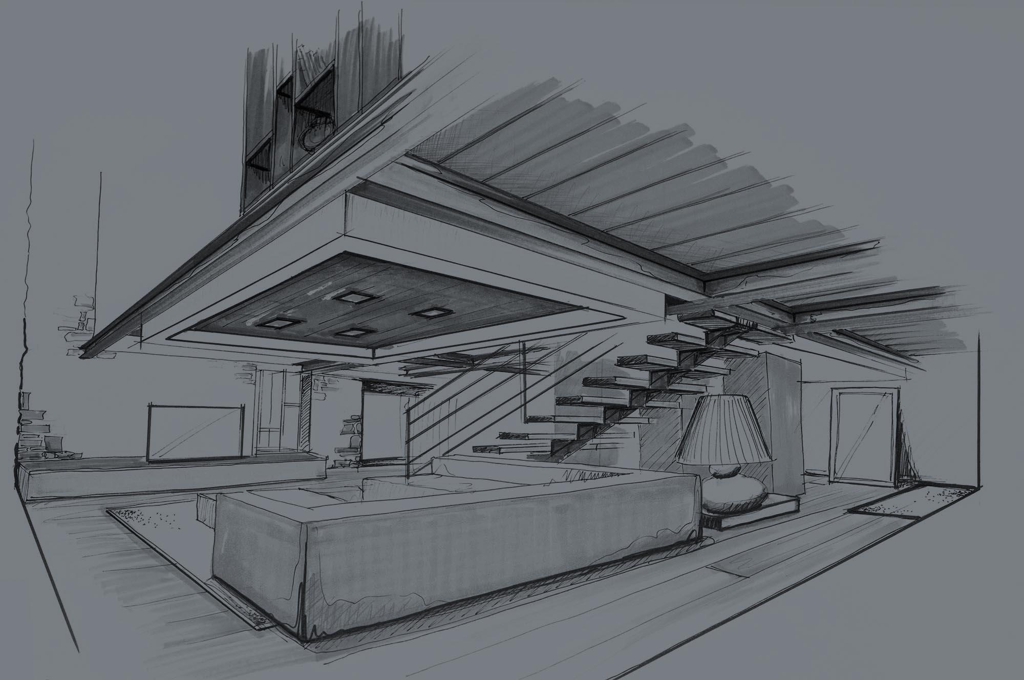 croquis d'architecte