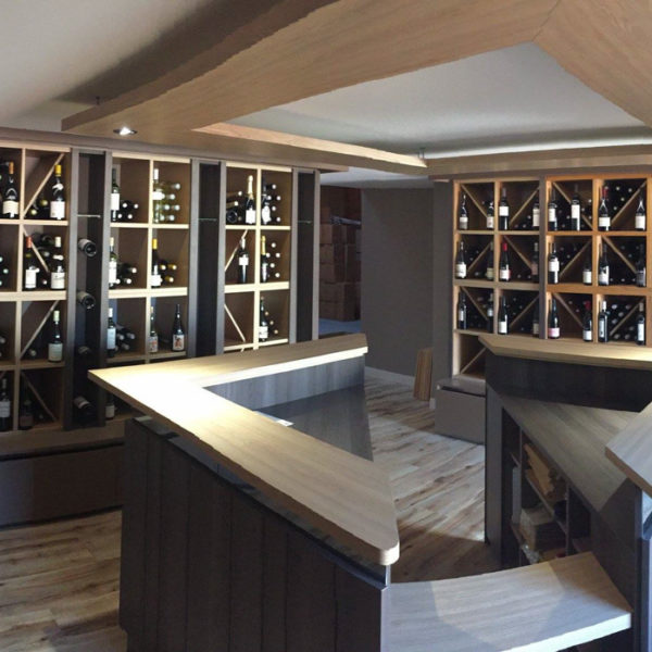 exemple de cave à vin design